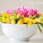 Цветочная композиция в чаше
