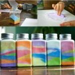 Бутылки с цветной солью