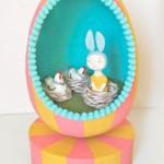 Музыкальная шкатулка — яйцо диорама