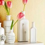 Декор бижутерией ваз из бутылок