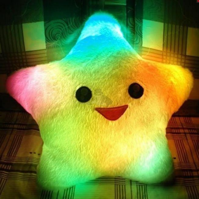 Светящаяся подушка звездочка