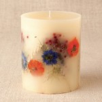 Свечи с природными материалами ручной работы