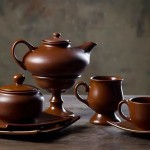 Керамическая посуда в дизайне загородного дома