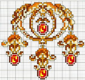 Вышивка крестом в красном цвете