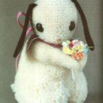 Игрушка из ниток: вислоухий кролик