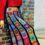 Вязаная одежда из квадратных мотивов