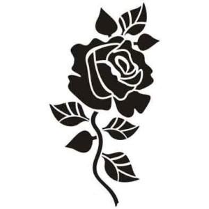 Контурная открытка Ажурные ворота в розах