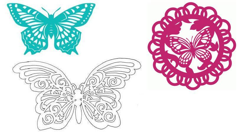 Распечатать бабочку для открытки
