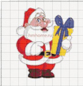 Схемы для вышивки Деда Мороза