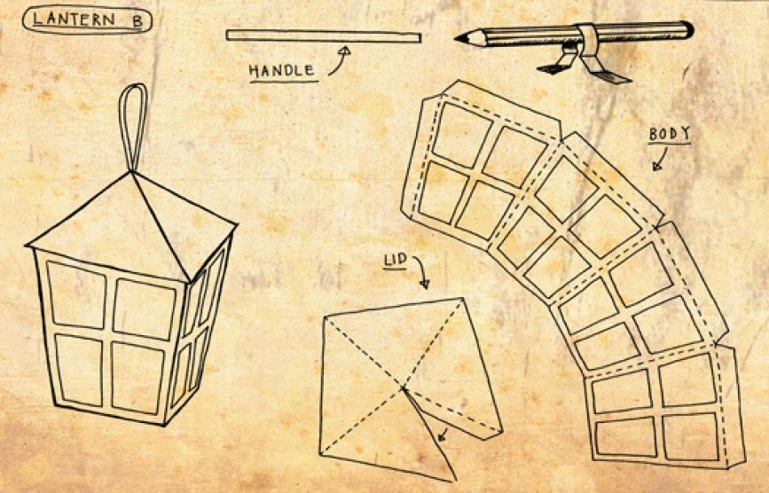 Фонарик из бумаги своими руками шаблоны