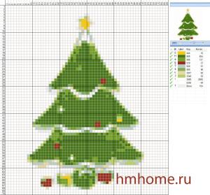 1 Схемы для вышивки новогодней ёлки