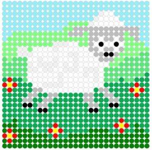 Схемы вышивки овечки