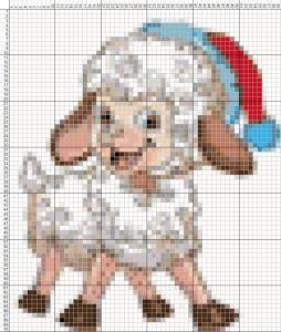 Схемы для вышивания крестиком овечки