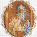 Большие схемы для вышивки «Рождество»