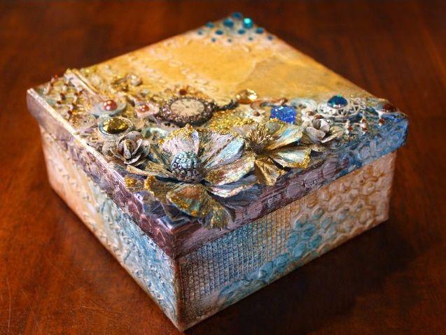 Видео урок декорирования шкатулки