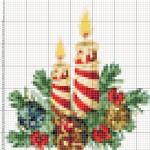 Схемы для вышивки Рождественские свечи