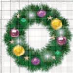 Схемы для вышивки «Новогодние веночки»