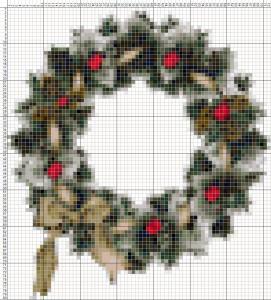 """Схемы для вышивки """"Новогодние веночки"""""""