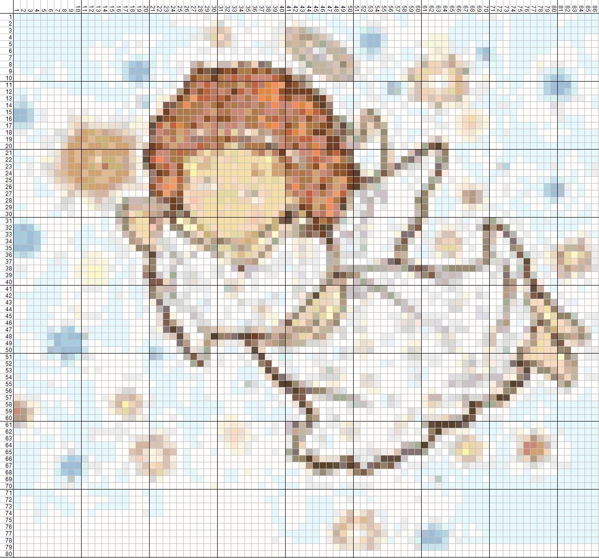 Вышивка крестом Ангел с кроликом - купить в интернет 1