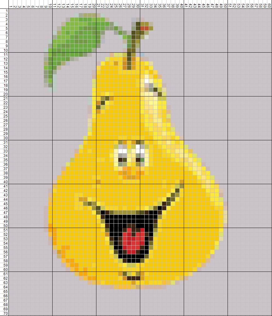 схема для вышивания фрукты