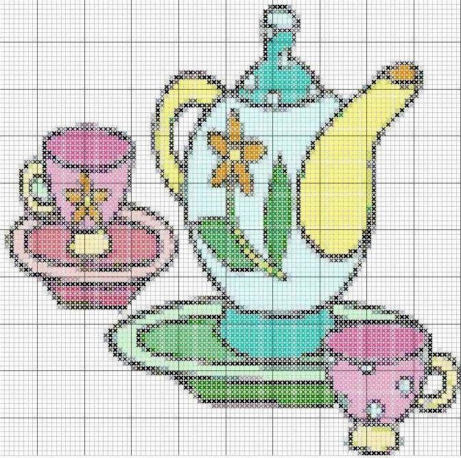 Схемы для кухонных полотенец и