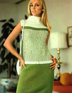 Вязаные винтажные костюмы