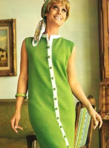 Вязаные винтажные платья