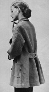 Вязаные винтажные пальта