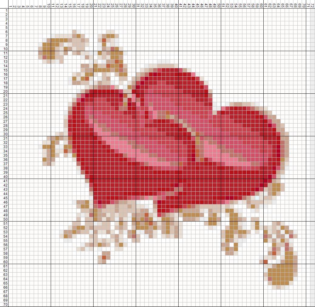 Вышивки крестиком схема сердца 73