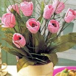 В копилку идей — вязаные цветы