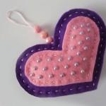 Мастер-класс по пошиву фетровой валентинки