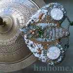 Как вышить брошь бисером и канителью