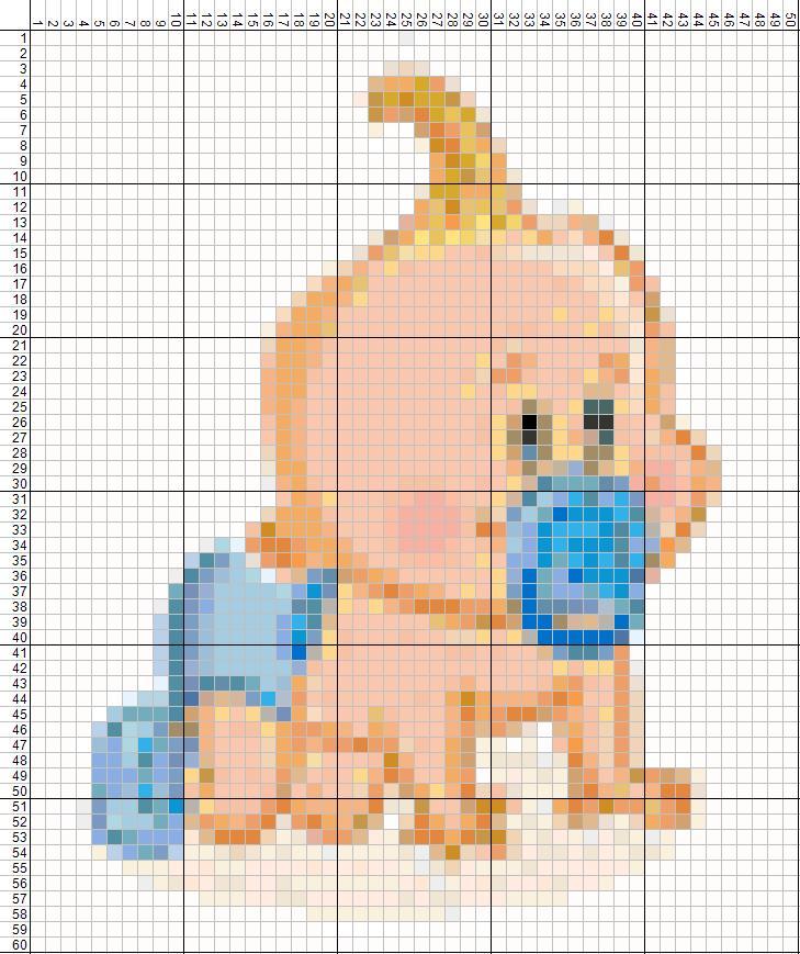 Вышивка ребёнок схема 22