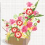 Вышивка крестом — цветы