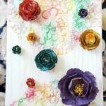 Коллаж из бумажных цветов