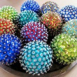 Новогодние шары с пайетками