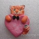 Валентинка Влюблённый рыжий кот