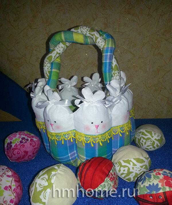 Пасхальная корзинка «Зайчата»