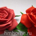 Розы из фоамирана своими руками — мастер-класс