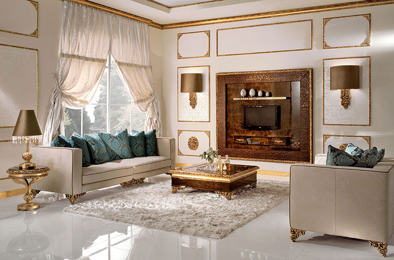 Элитная гостиная от AR Arredamenti