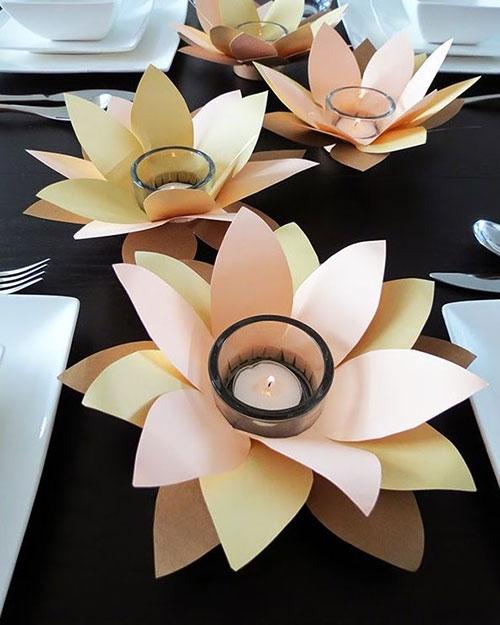 подсвечники-цветы
