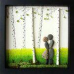 Романтичные коллажи из гальки