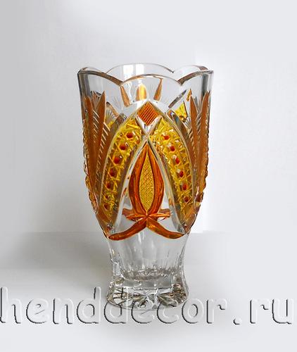 Роспись хрустальных ваз витражными красками