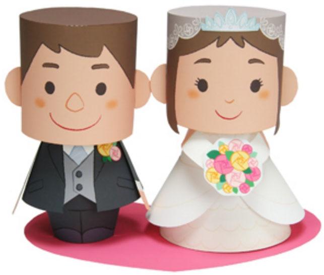 Бумажные украшения для свадебного торта
