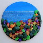 Цветные пейзажи из гальки