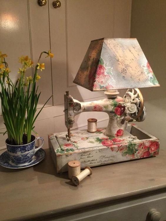 10 идей использования старых швейных машинок