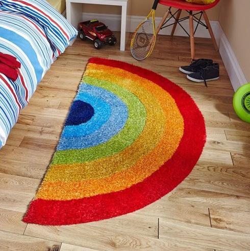 Радужный пол и коврики