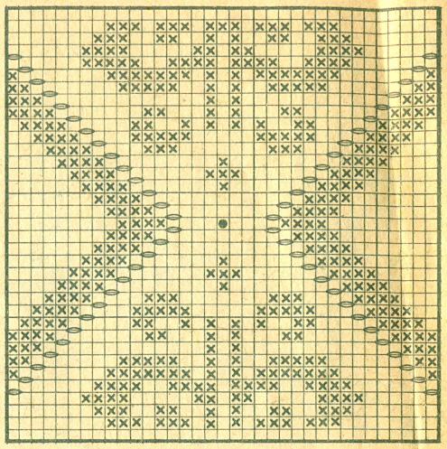 Схемы филейного вязания с шишечками