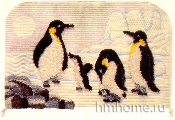 Уютная ванная комната с пингвинами