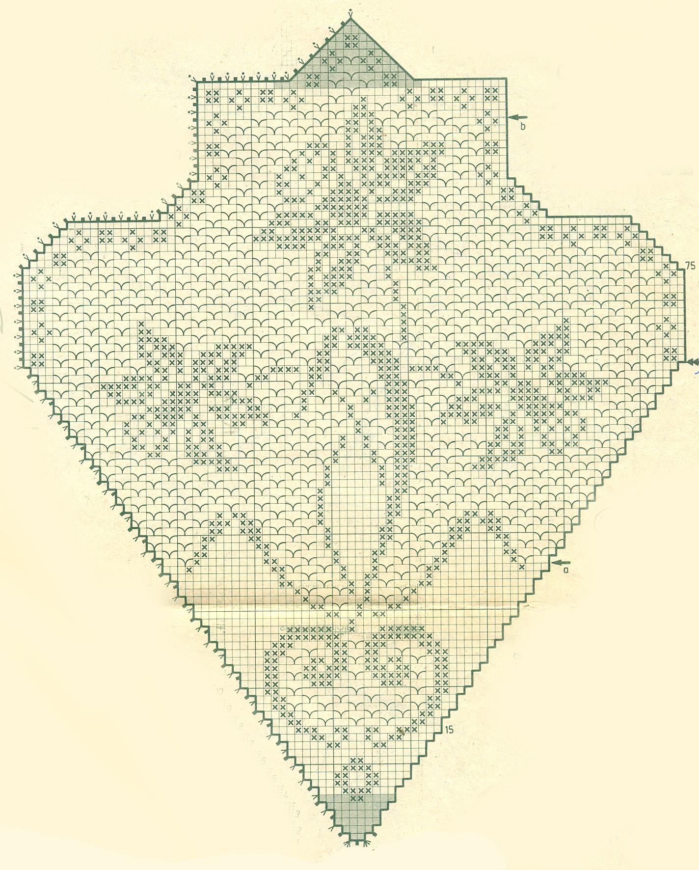 Скатерть виноградная лоза крючком схема